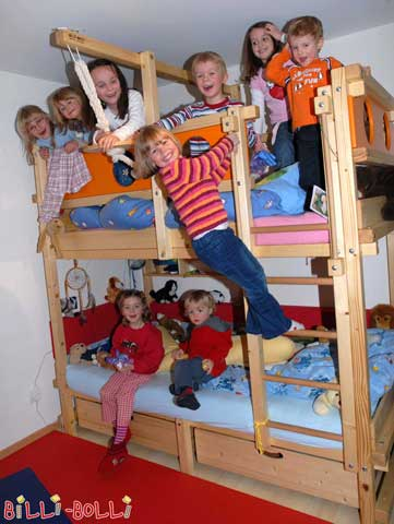 How many children are allowed to be in the bed simultanously? We do not recommend more than 30, then it may get a little too snug ;)