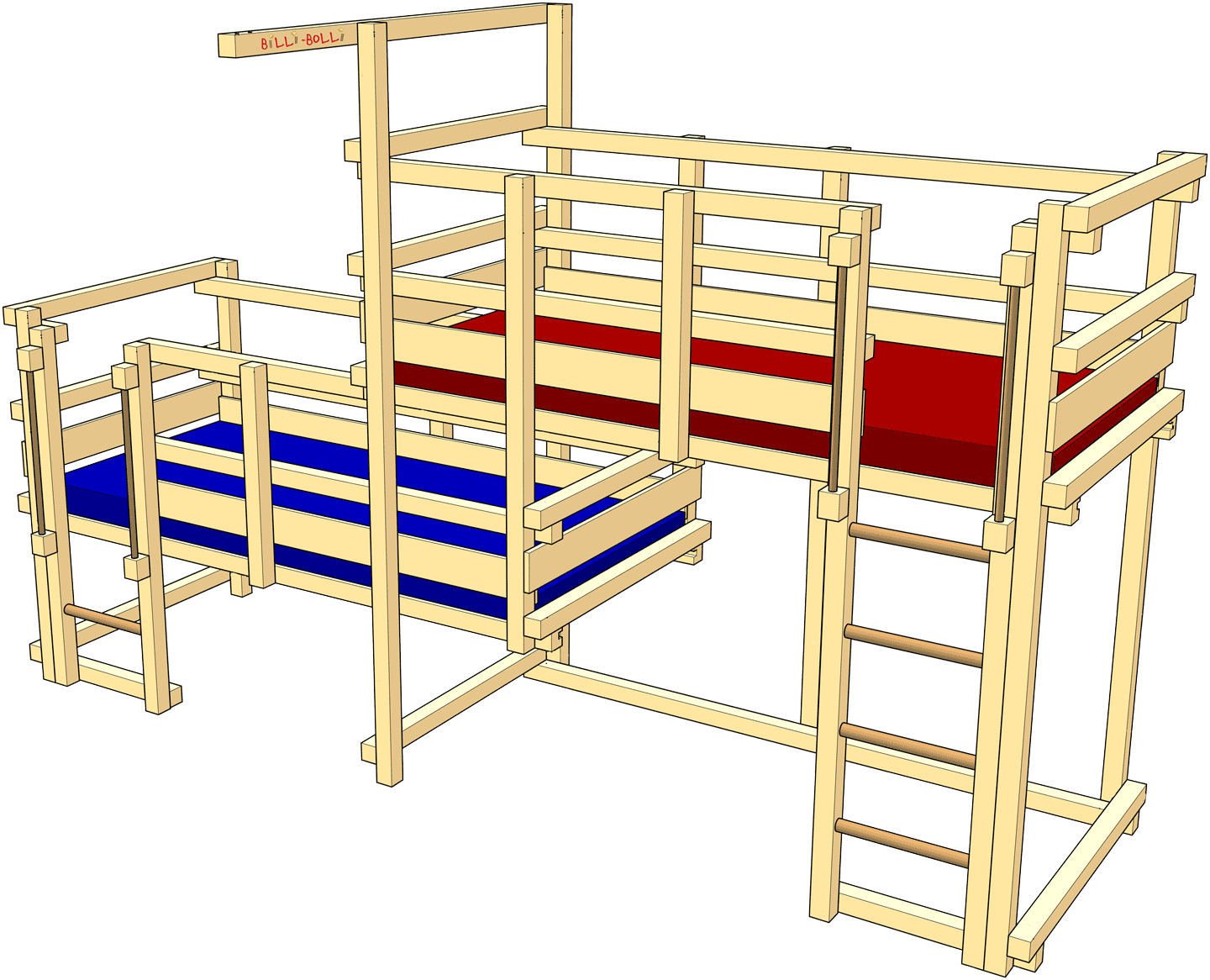 Both-Up Beds, Type 1C