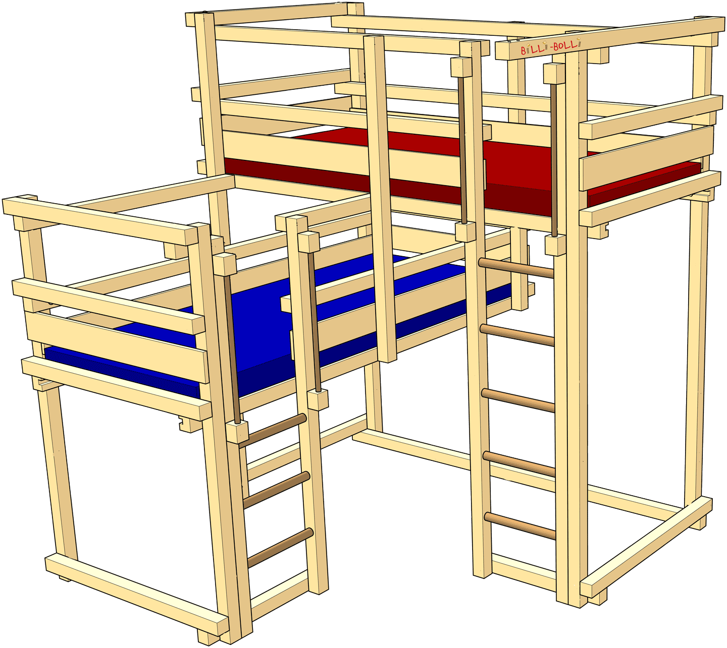 Both-Up Beds, Type 2A