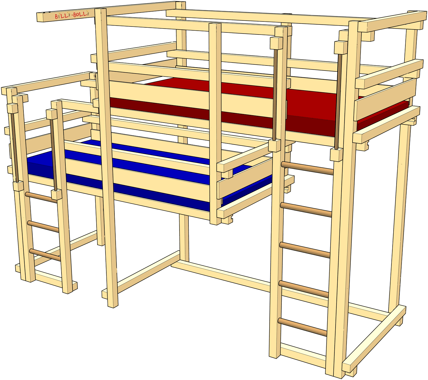 Both-Up Bunk Beds for two children (Kids' Beds)