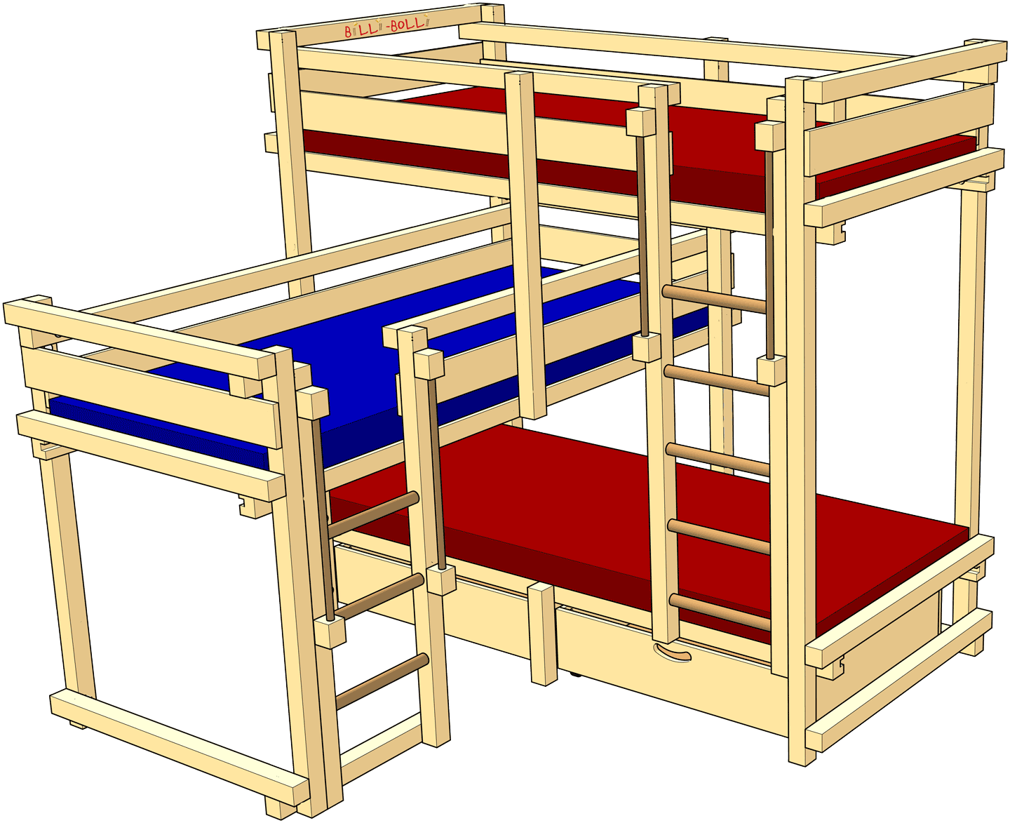 Picture of: Bunk Bed For Three Children Buy Online Billi Bolli