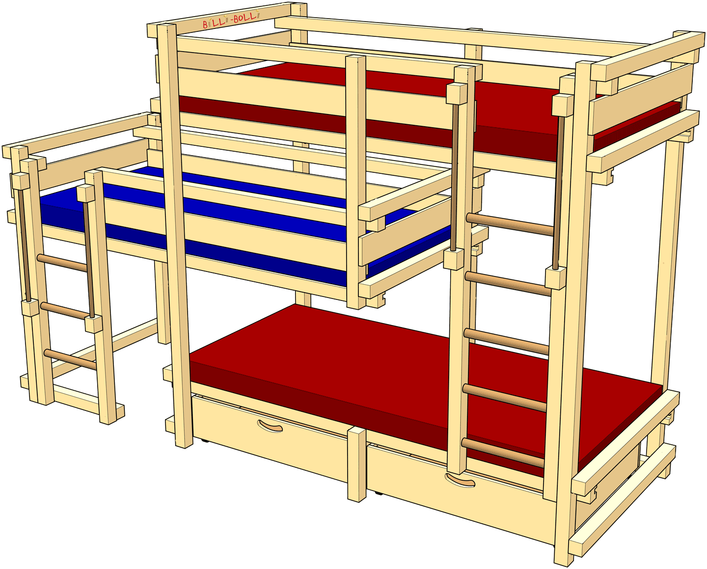 Beds for Three, Type 1B