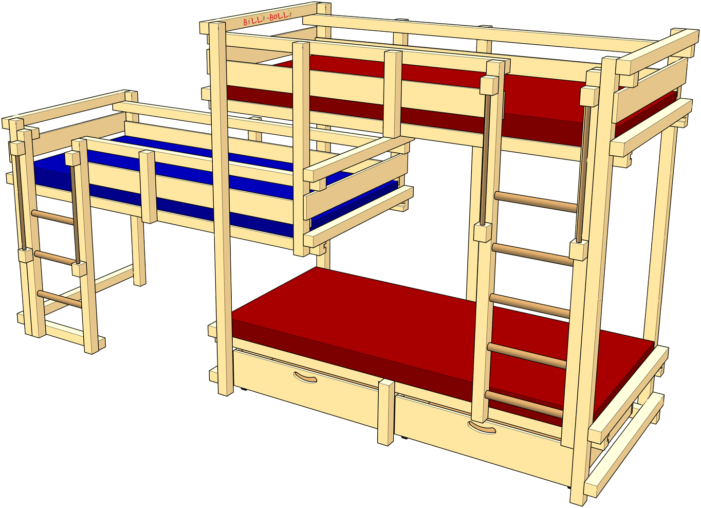 Beds for Three, Type 1C