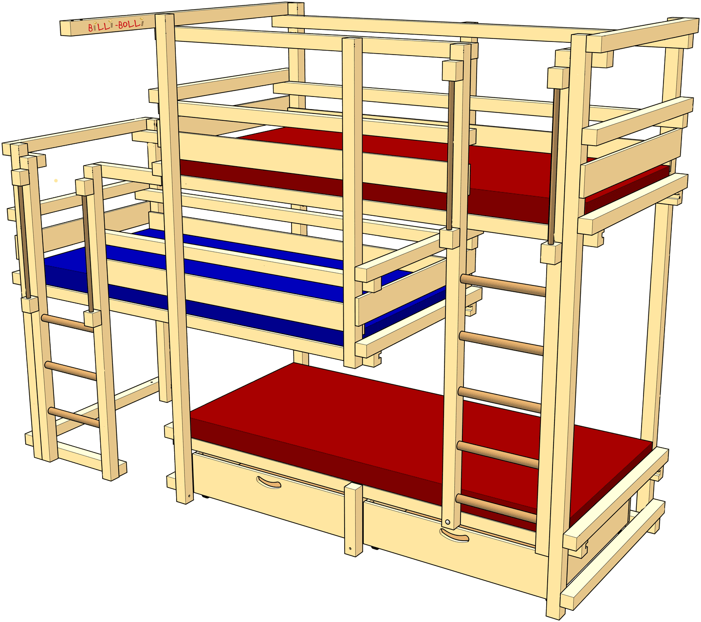 Beds for Three, Type 2B