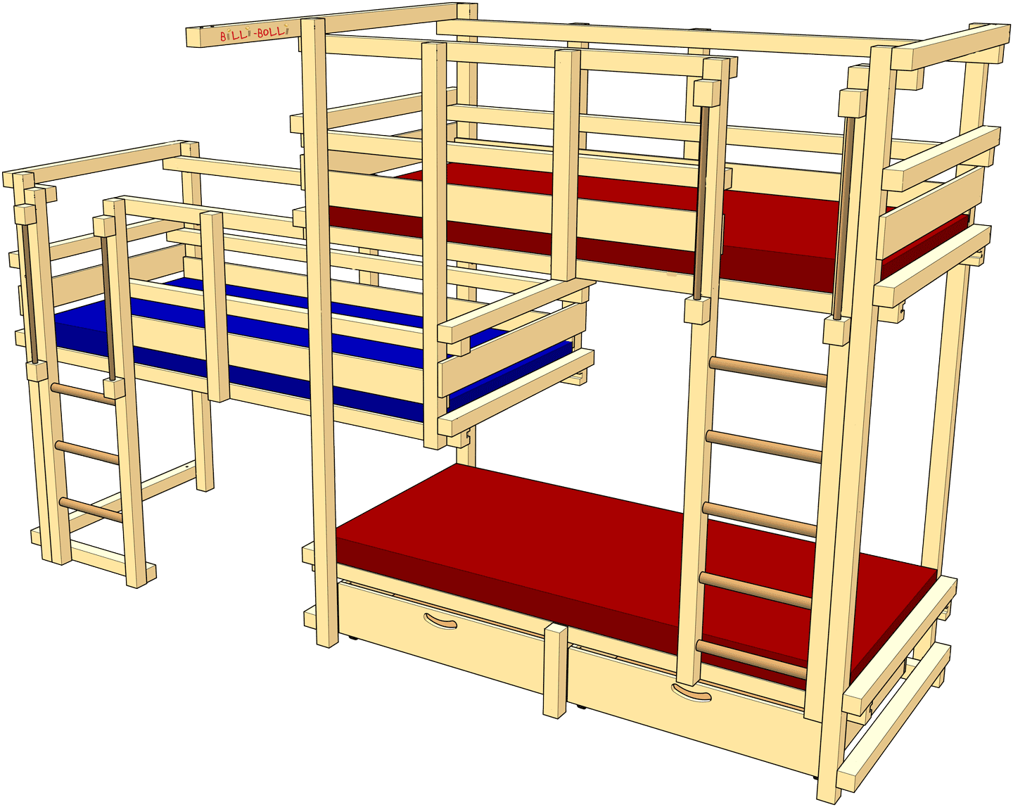 Beds for Three, Type 2C