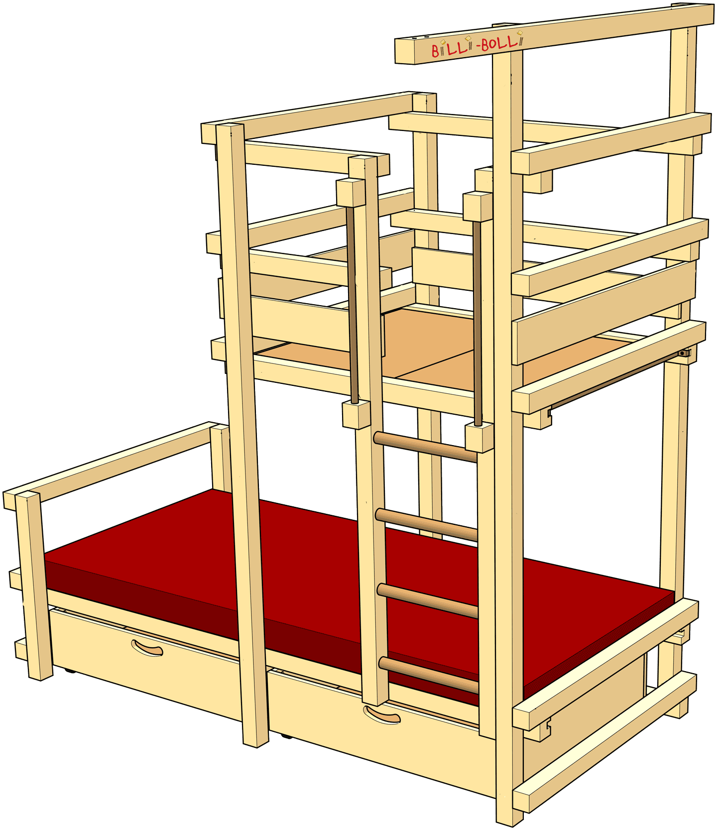 Pitched Roof Bed: The ingenious kids' play bed for the pitched roof