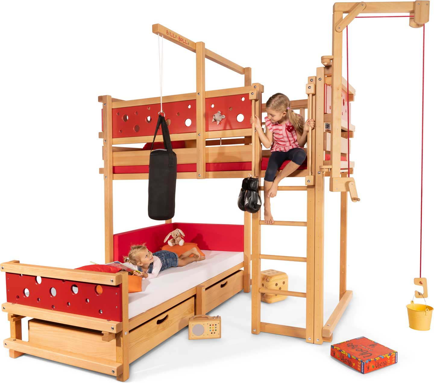 Image of: Corner Bunk Bed Buy Online Billi Bolli