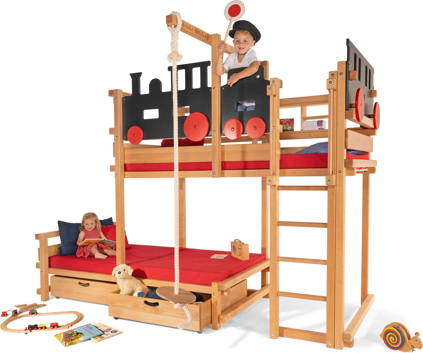 Image of: Bunk Bed Laterally Staggered Buy Online Billi Bolli