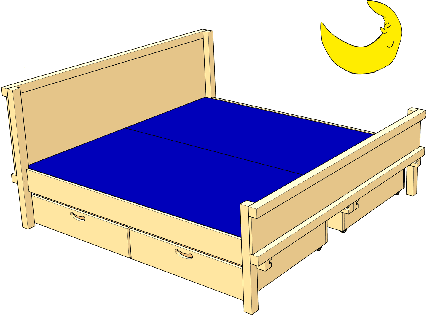 Double Bed for Parents and couples (Kids' Beds)