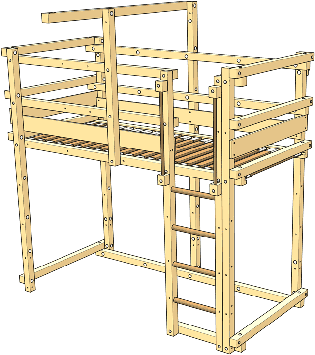Included in the delivery Loft Bed Adjustable by Age