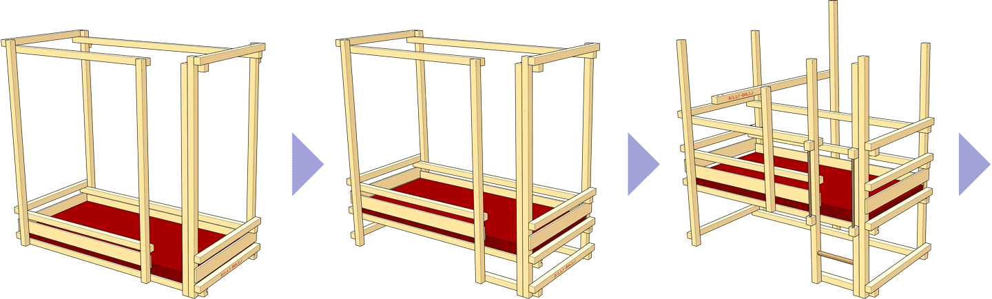 One loft bed, many assembly options (1)