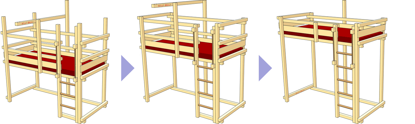 One loft bed, many assembly options (2)