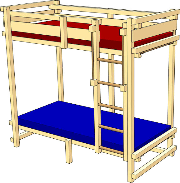 "Youth Bunk Bed – TÜV Süd certification mark ""Geprüfte Sicherheit"" (GS / tested safety)"