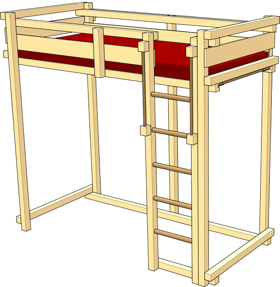 "Youth Loft Bed – TÜV Süd certification mark ""Geprüfte Sicherheit"" (GS / tested safety)"