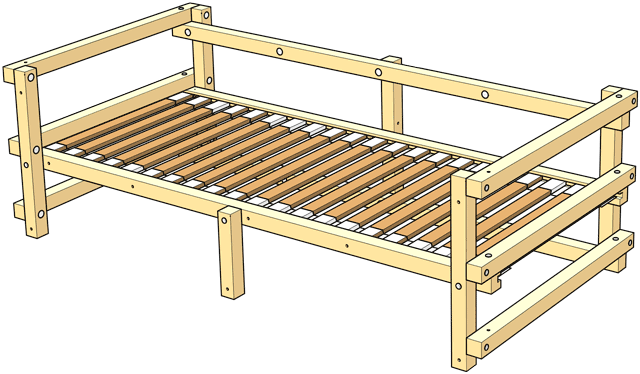 Delivery Low Youth Bed Type D
