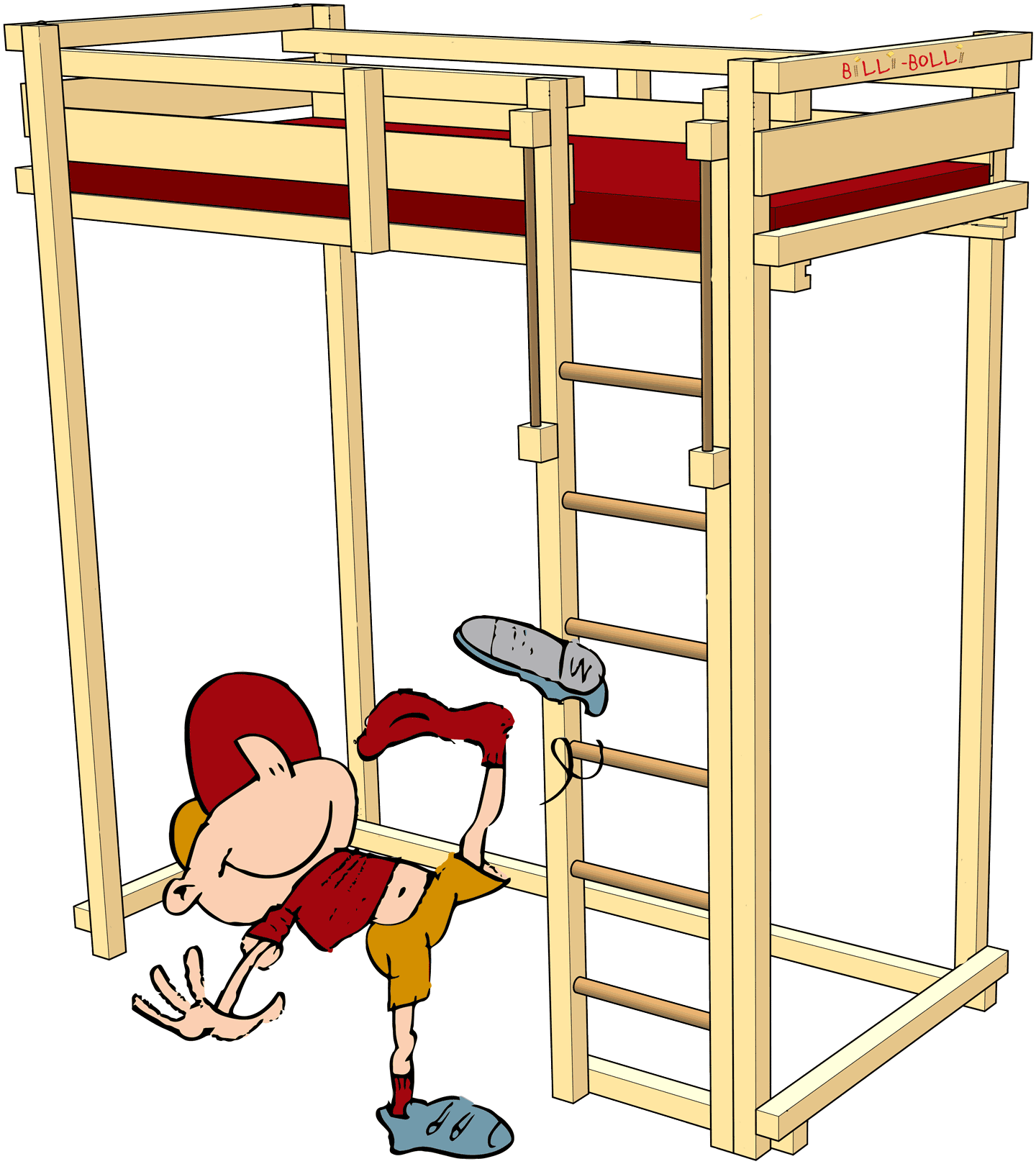 Students' Loft Bed: the extra tall loft bed (Kids' Beds)