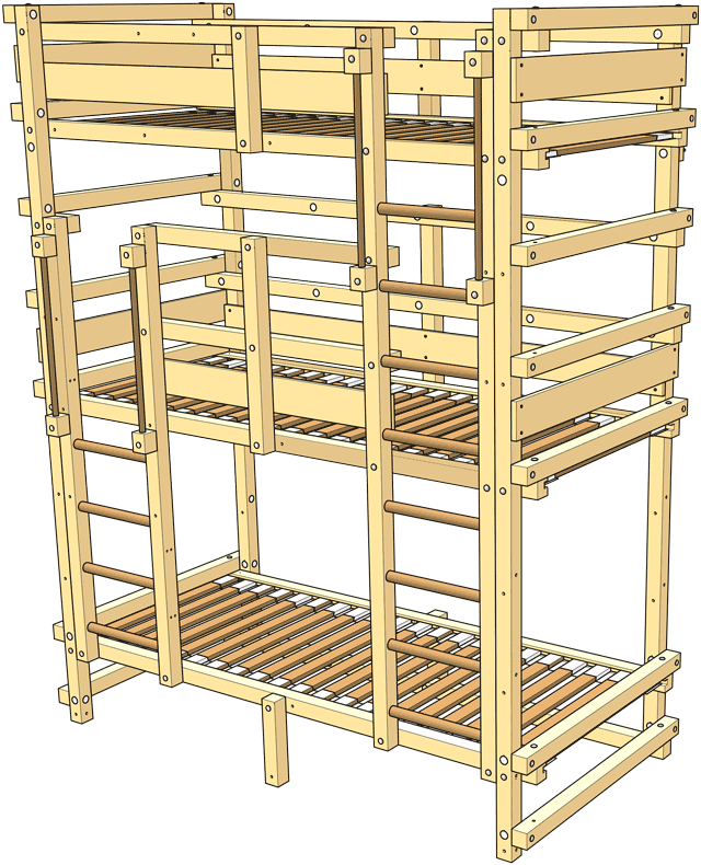 included in the delivery Skyscraper Bunk Bed