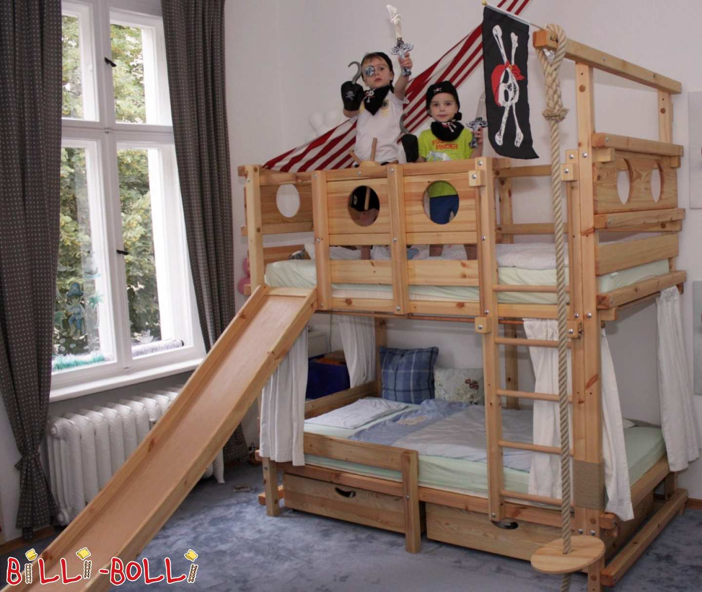 Adventure/Pirate Bed - Beech (second hand adventure bed)
