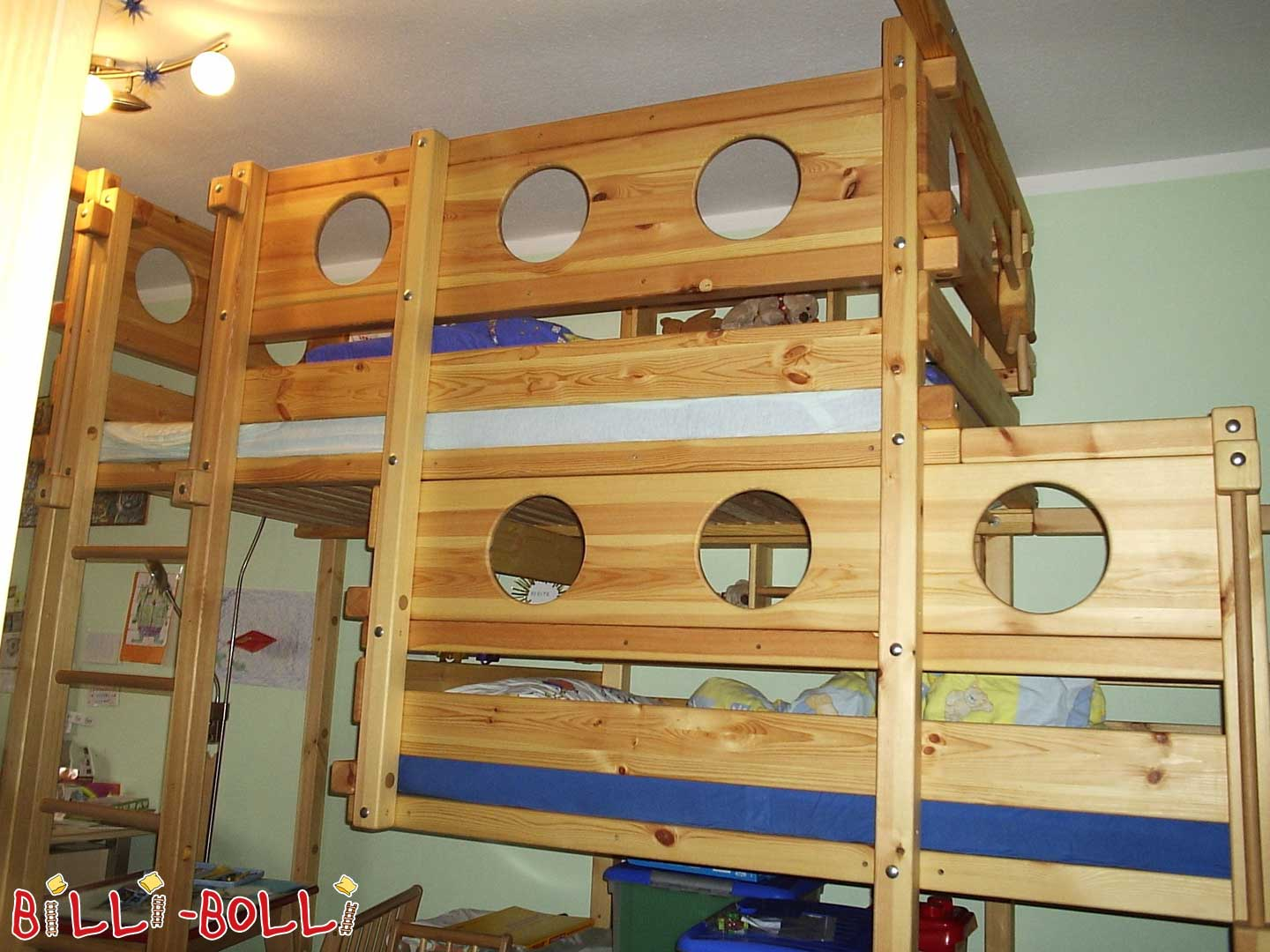 Both up bed type 2b with fire rod (second hand loft bed)