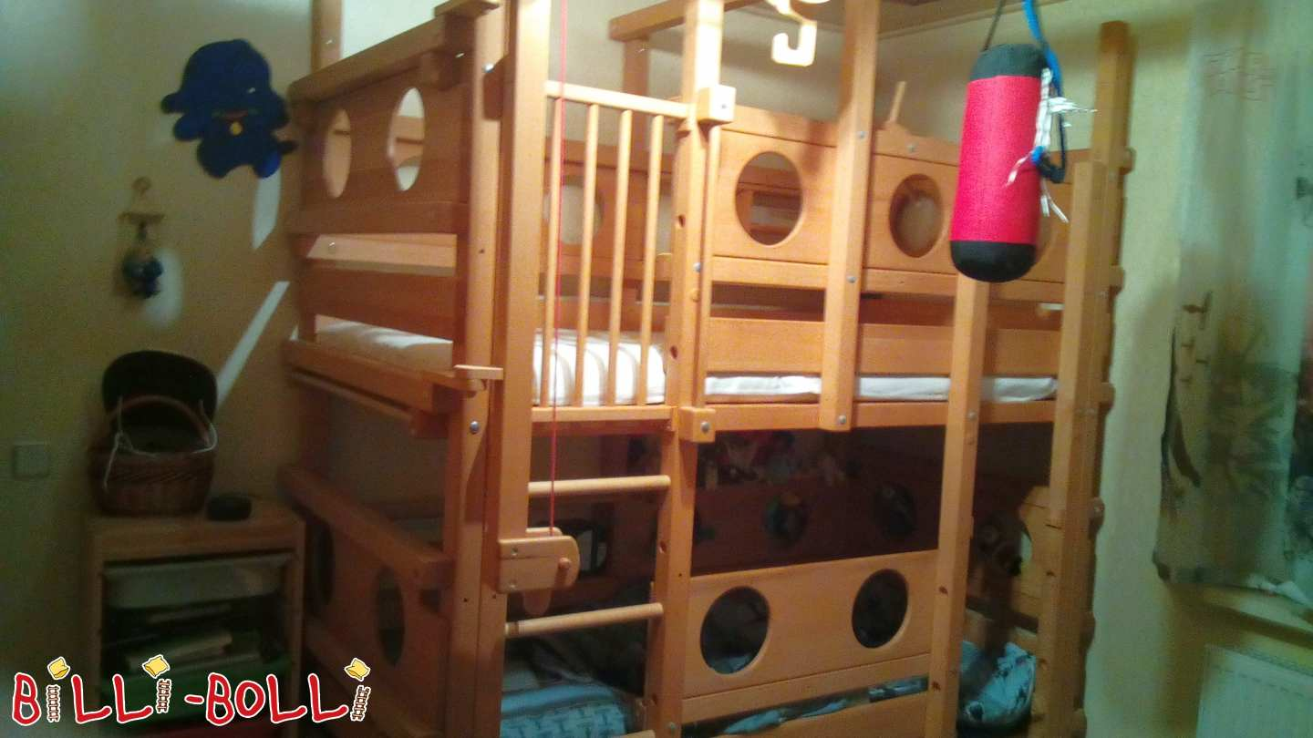 Both-top bunk bed made of beech (second hand bunk bed)