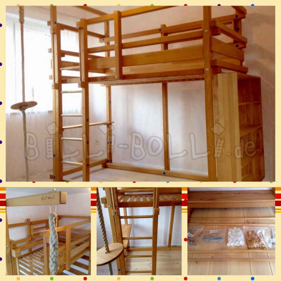 Billi-Bolli bunk bed 100 x 200cm in beech (oil wax treated) (second hand loft bed)