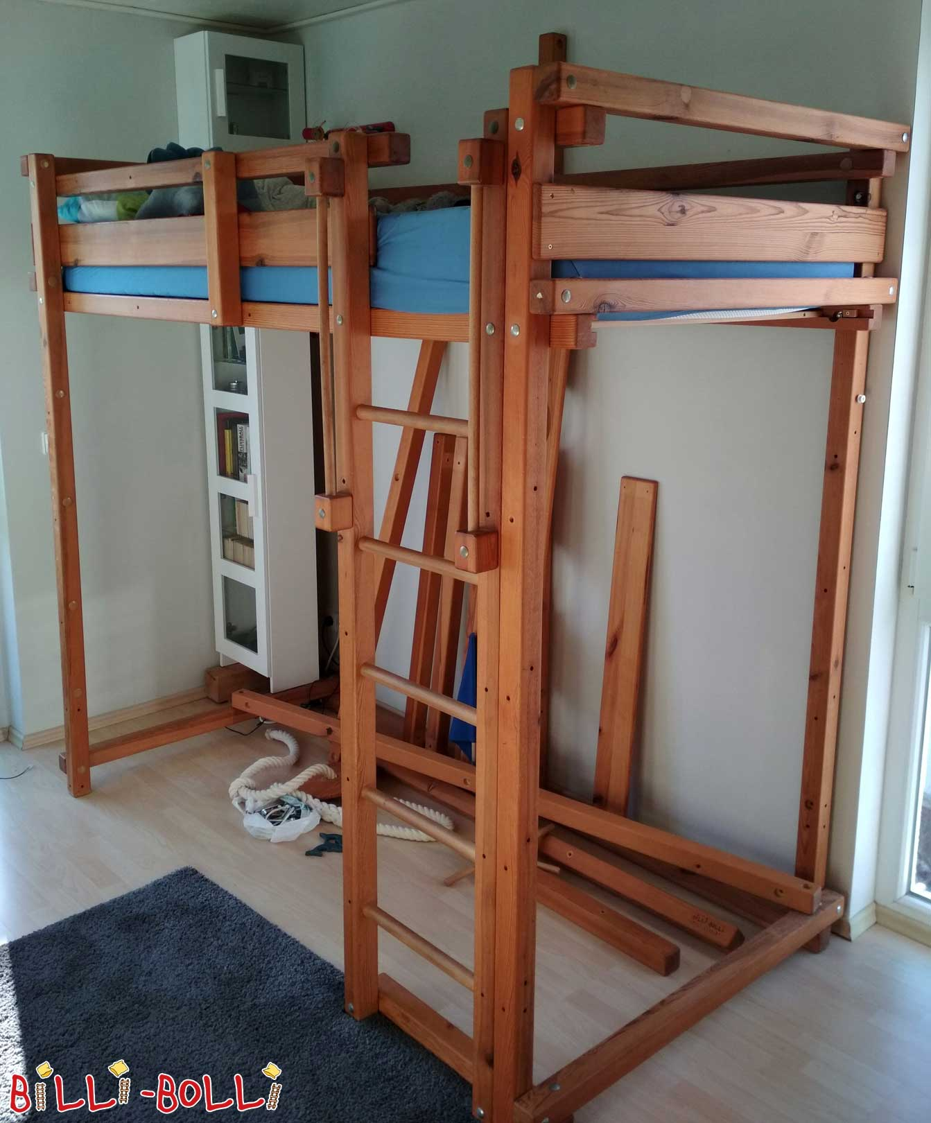 Billi-Bolli Adventure Bed, Solid Wood, Pine (second hand loft bed)