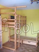 Billi-Bolli adventure bed (over corner) without mattresses 90 x 200 cm (second hand kids' bed)