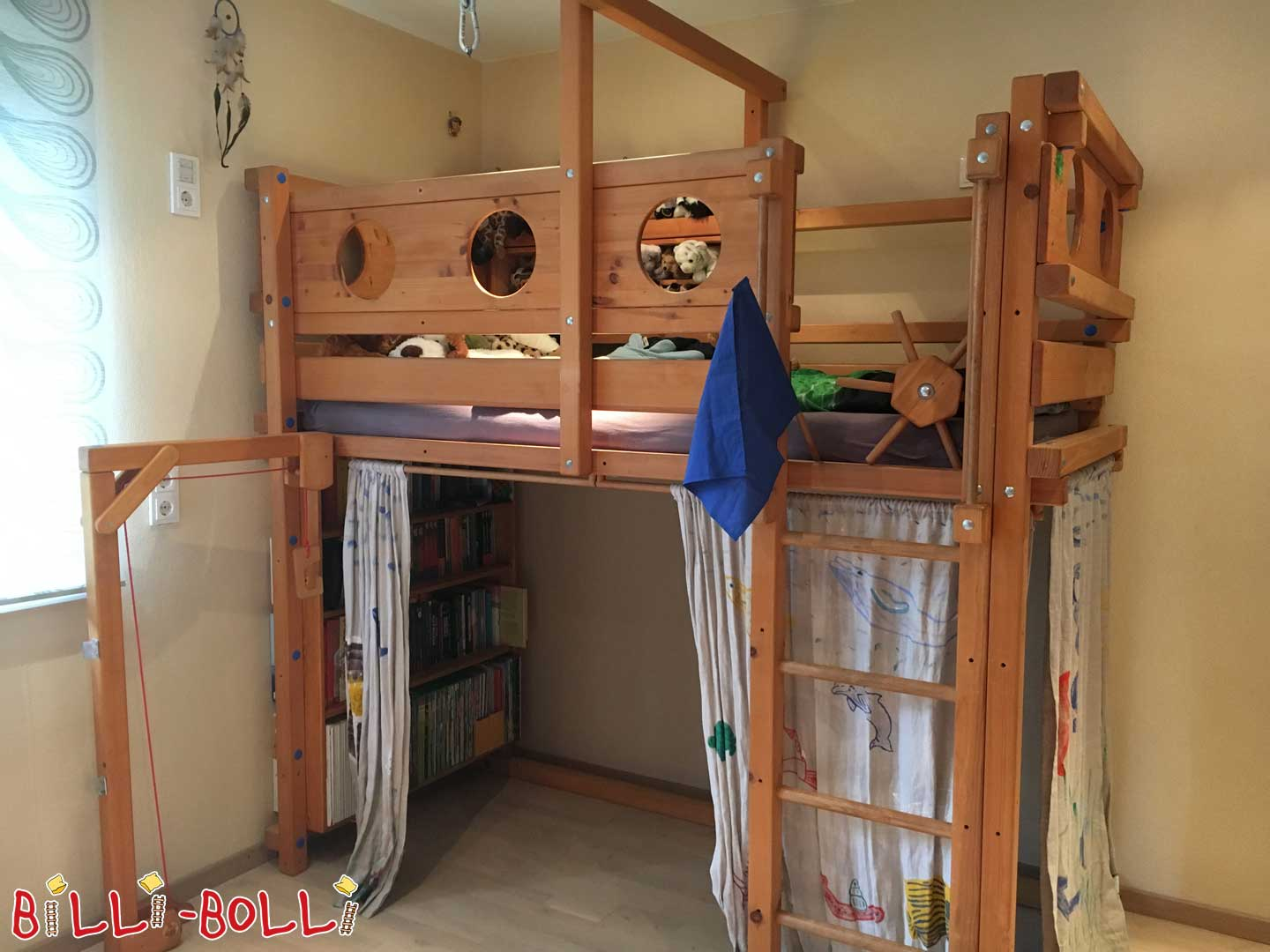 BILLI-BOLLI-BETT for pirates and adventurers! (growing bunk bed) (second hand loft bed)