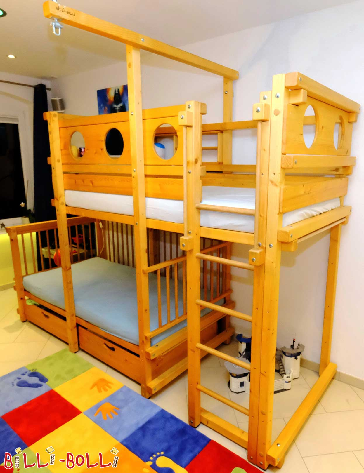 Cheap Bolli bunk bed 90 x 190, purchased by us in July 2011 (second hand bunk bed)