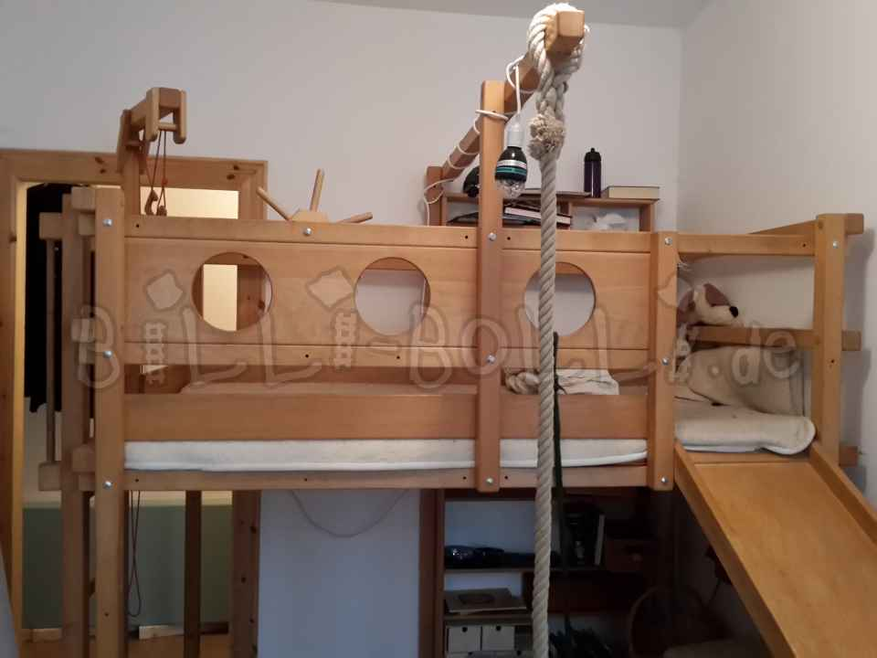 Billi-Bolli-High bed made of beech wood (second hand loft bed)