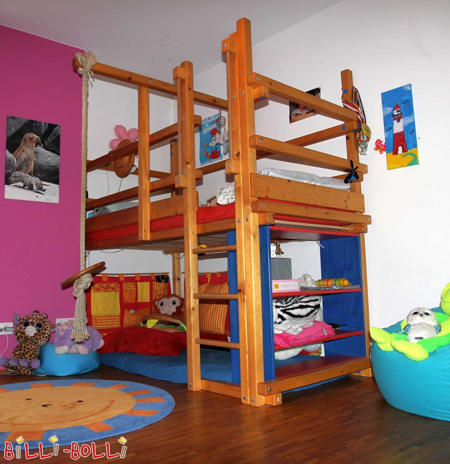 Billi Bolli spruce high bed (second hand loft bed)