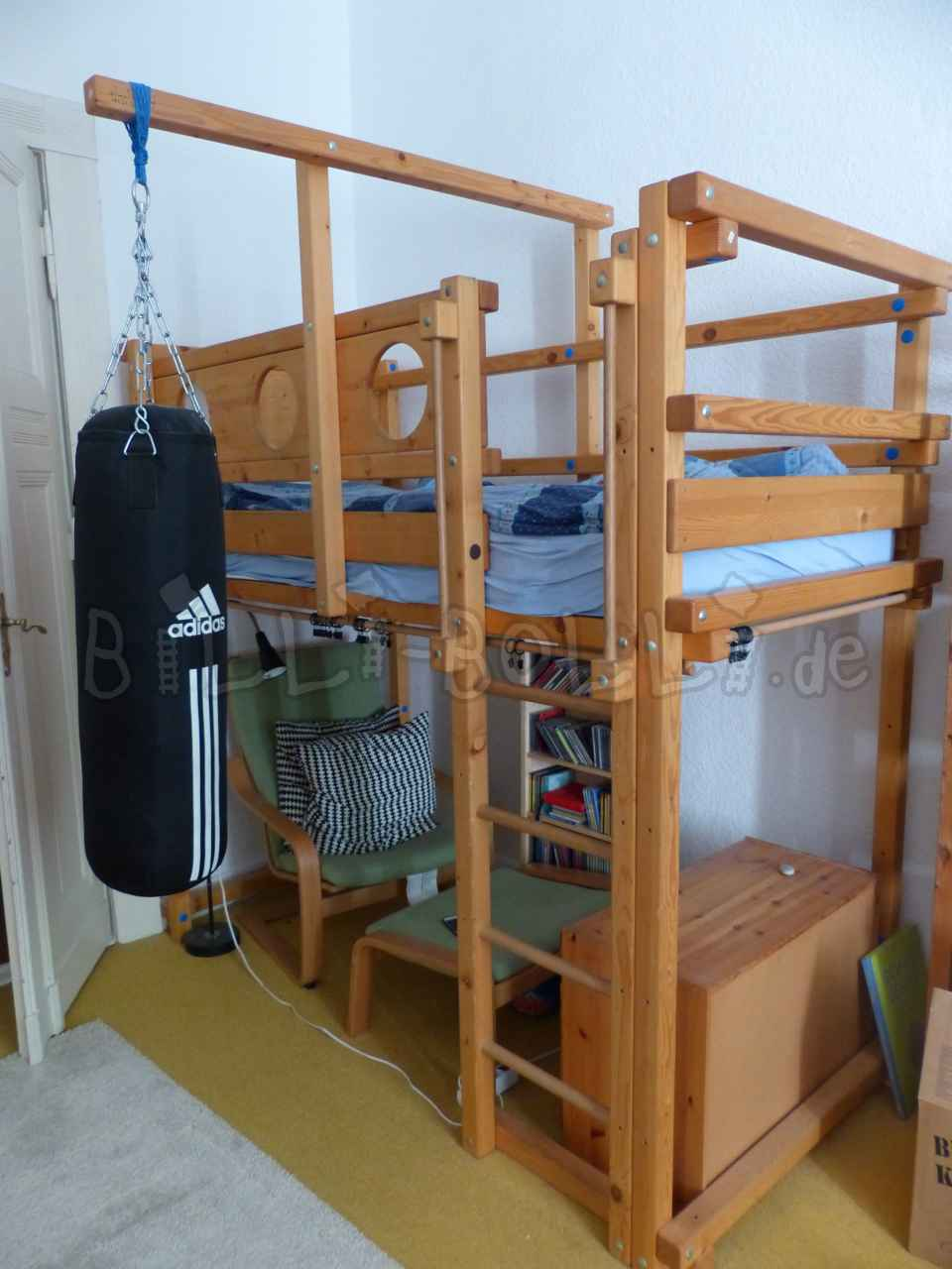 Billi-Bolli-High bed in spruce oiled/waxed (second hand loft bed)
