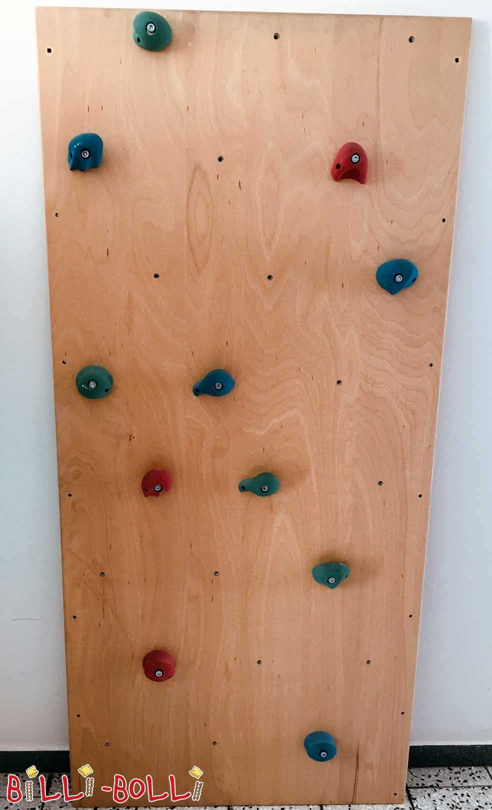 Climbing wall made of beech with tested climbing handles (second hand kids' furniture)