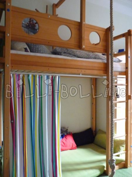 "Billi-Bolli ""pirate"" high bed with feet of student height (second hand loft bed)"