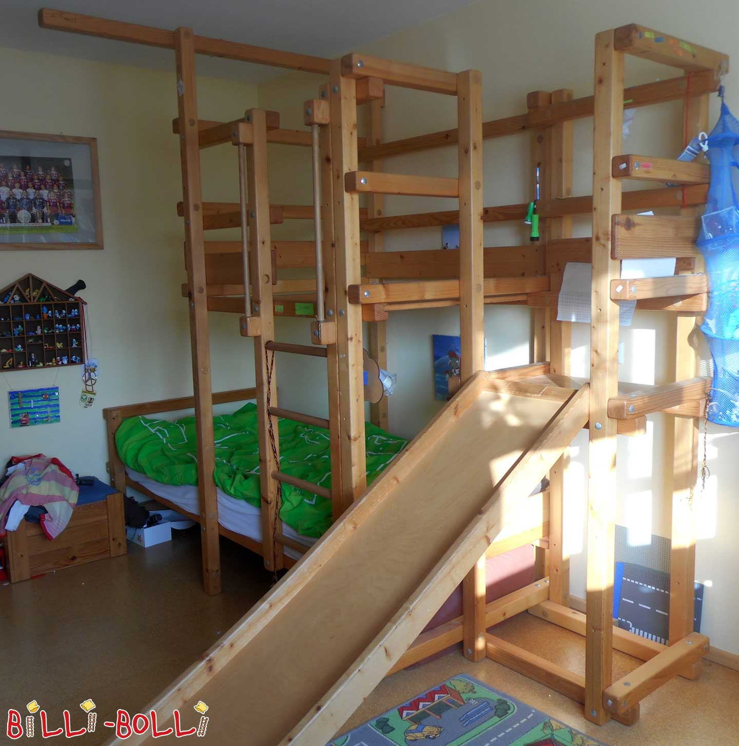 Roof slanting bed with slide tower (second hand loft bed)