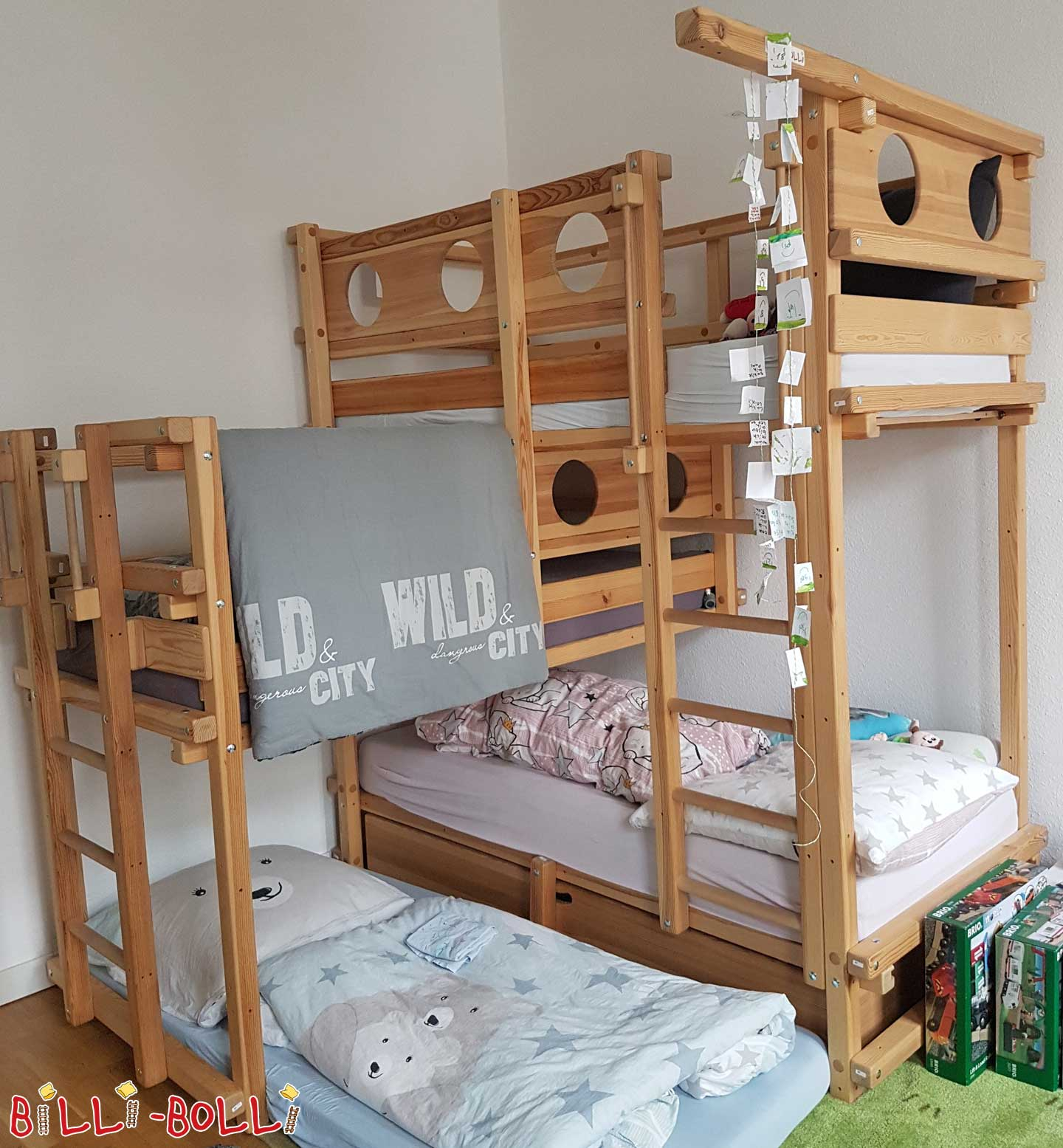Three-person bunk bed including bed in Fürth (second hand loft bed)