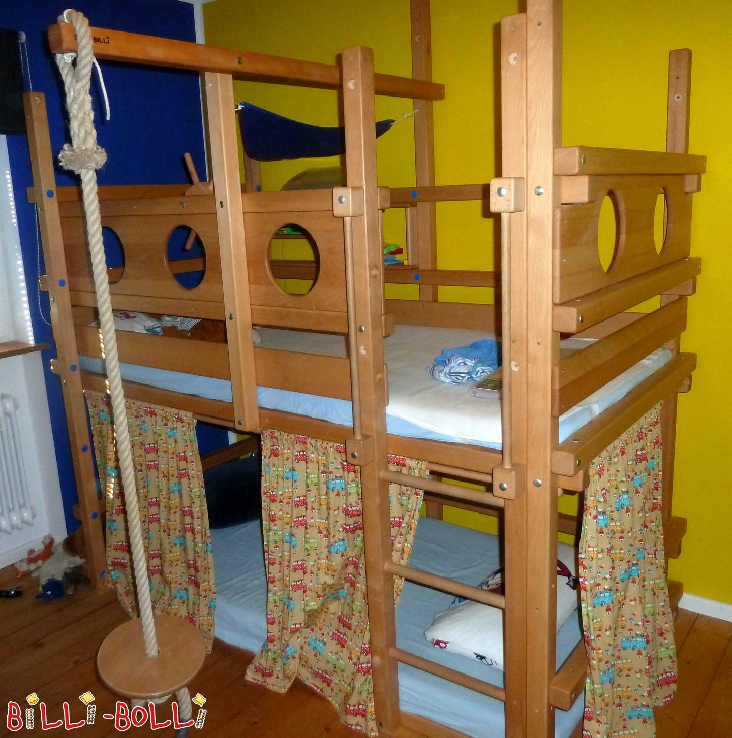 Bunk bed, 100 x 200 cm, beech oiled waxed (second hand bunk bed)