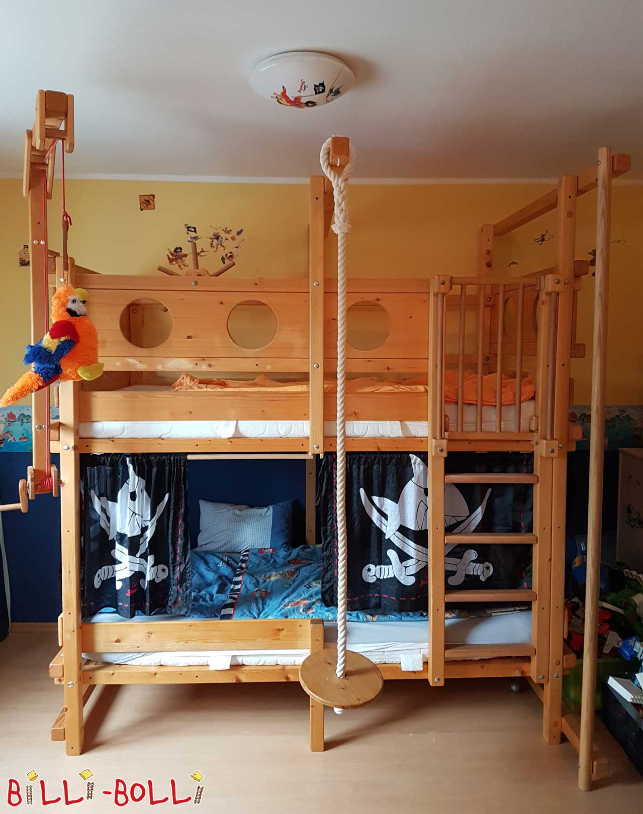 Bunk bed, 100 x 200 cm, spruce oiled-waxed (second hand bunk bed)