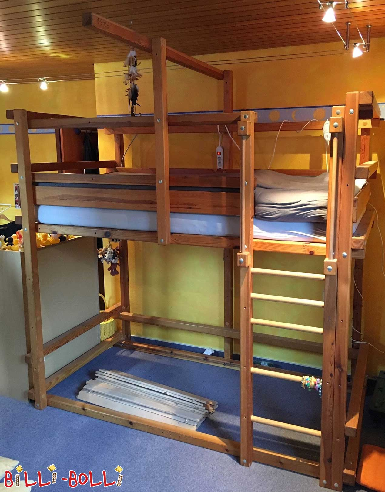Bunk bed, 100 x 200 cm in pine oiled-waxed (second hand bunk bed)