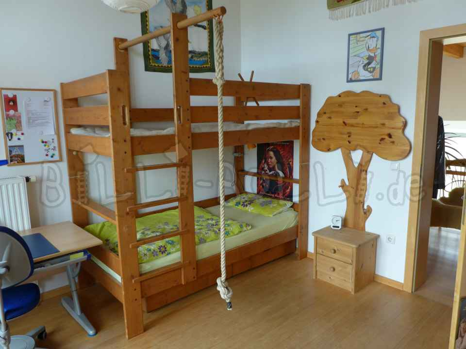 "Bunk bed 90 cm x 200 cm, model ""Star Shooting"" (second hand bunk bed)"