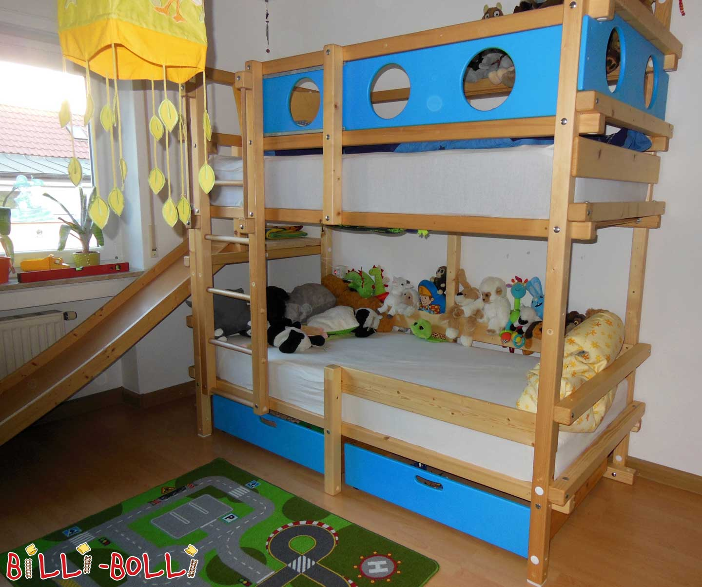 Untreated bunk bed 90 x 200 cm, spruce (second hand bunk bed)