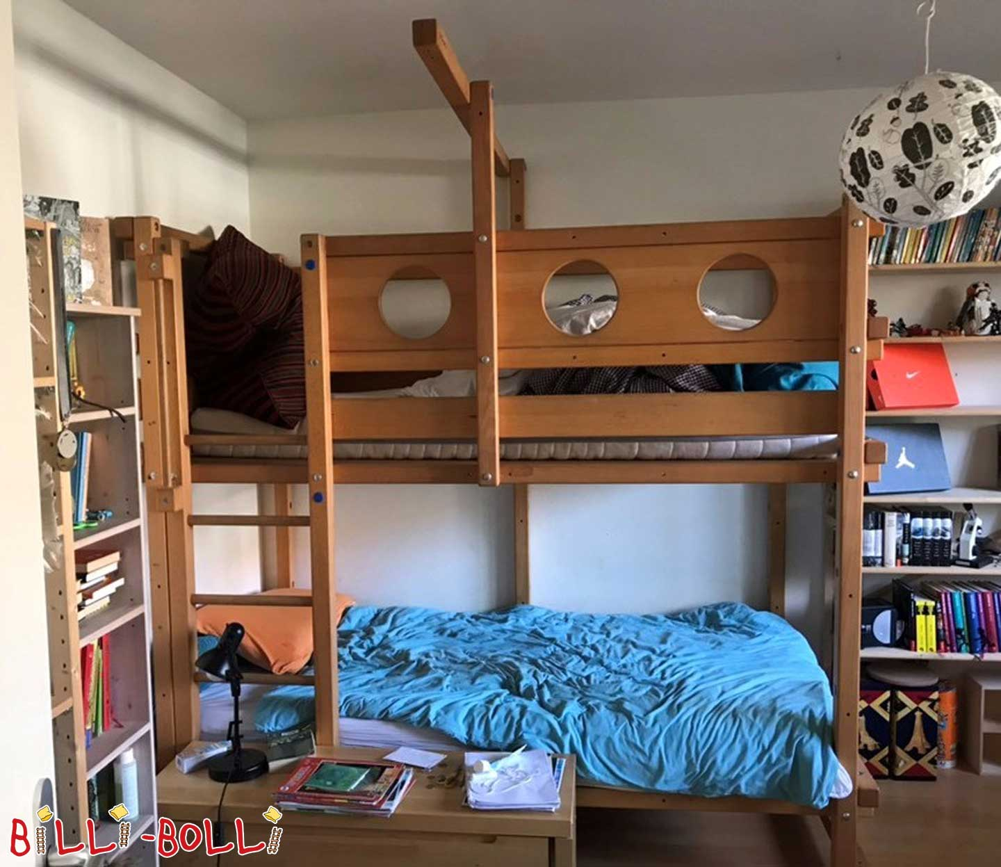 Bunk bed beech (second hand bunk bed)