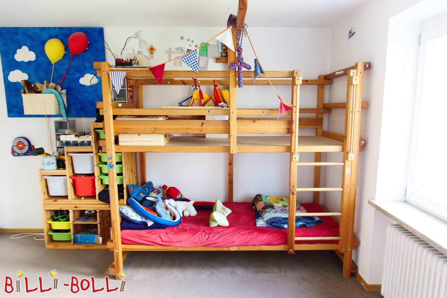 Bunk bed 90 x 220 cm from pine in Traunreut (second hand bunk bed)