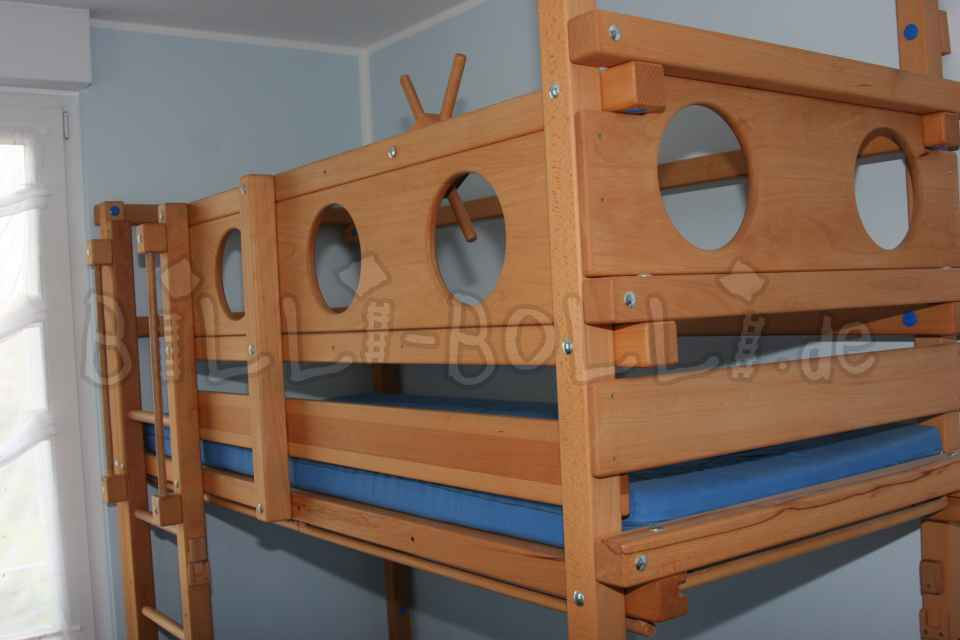 Bunk bed in beech (Kids furniture second hand)