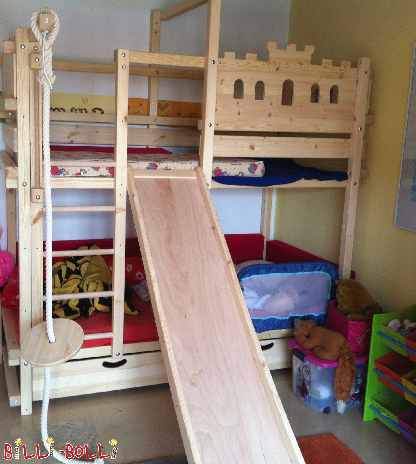 Bunk bed, pine untreated 100 x 200 cm in Niederalteich (second hand bunk bed)