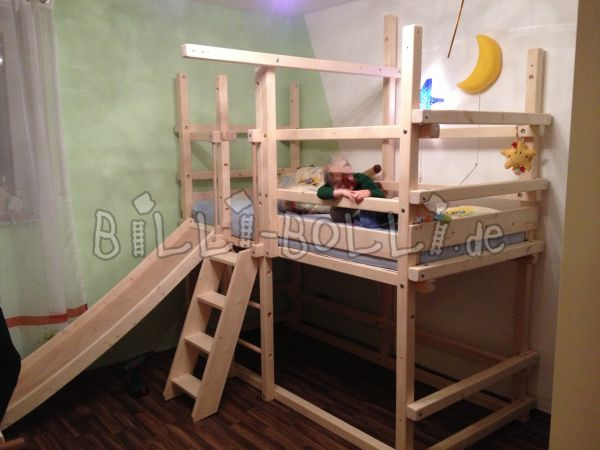 Bunk bed Midi 3, spruce untreated 90x200cm (second hand bunk bed)