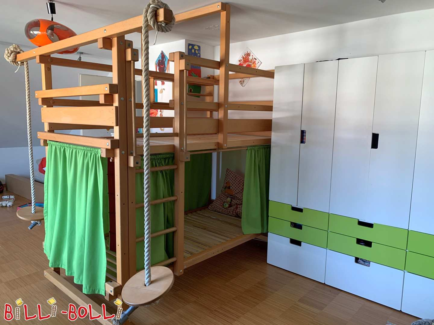 Bunk bed with swing beams from beech in Kirchheim-Teck (second hand loft bed)