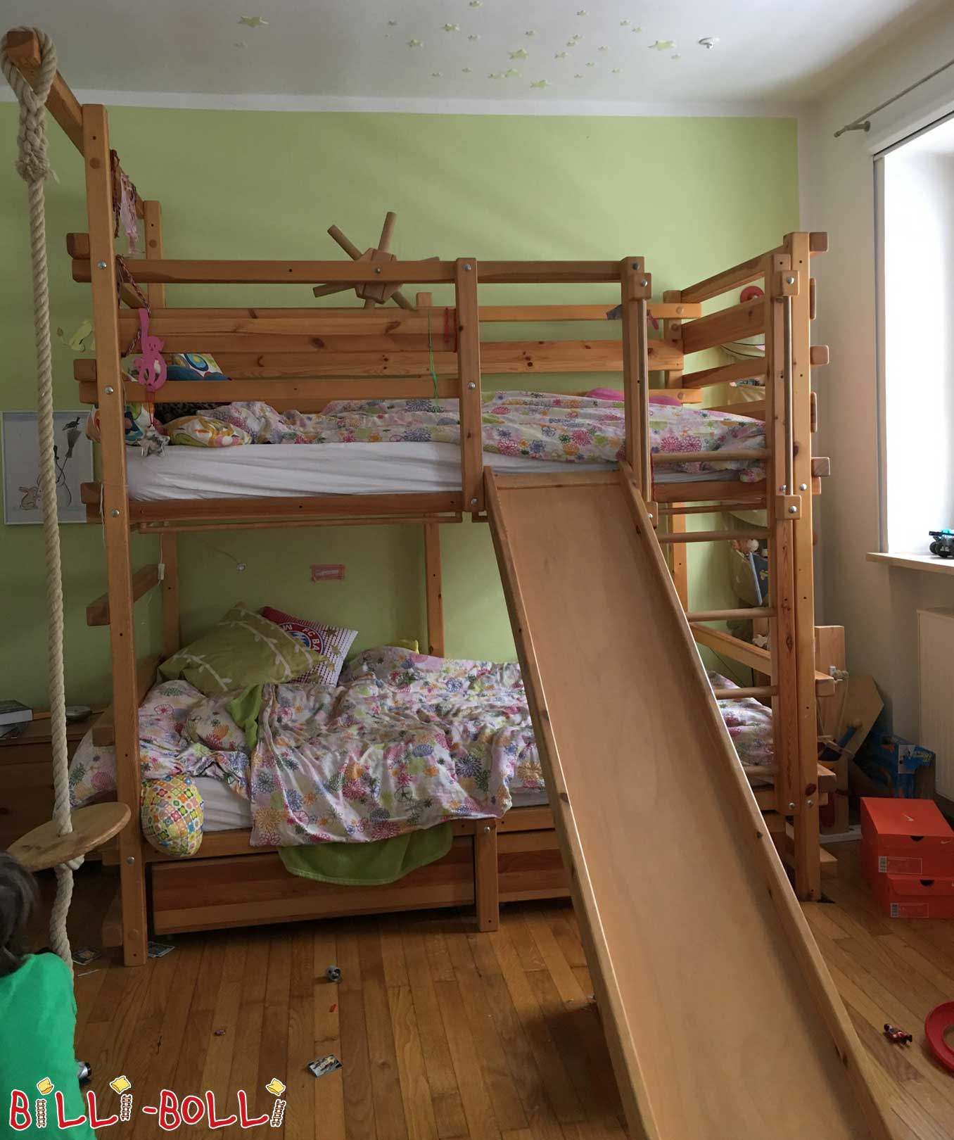 Bunk bed with slide (second hand bunk bed)