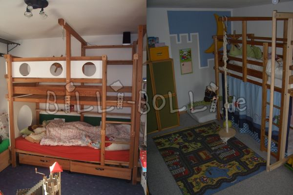 Gullibo-bunk bed with accessories (second hand bunk bed)