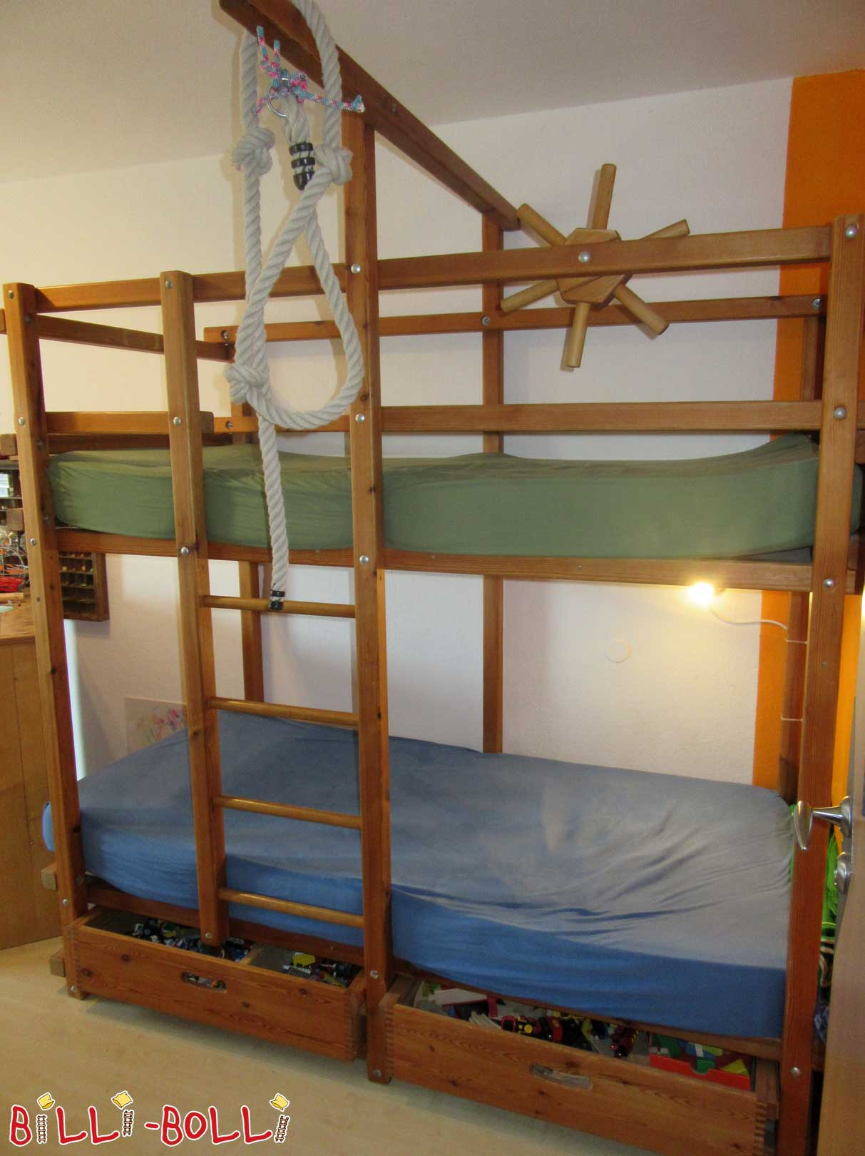 Gullibo bunk bed 90 x 200 cm, pine (second hand bunk bed)